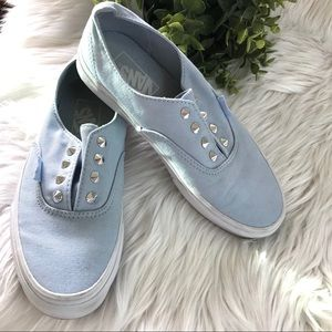 Vans Baby Blue Studded slip on sneakers size 5.5